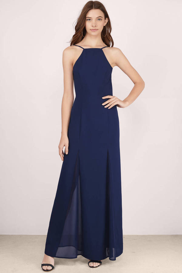 Navy Blue Maxi Dresses