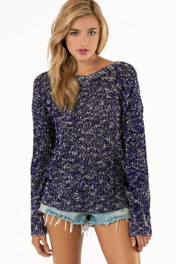 V Neck Marled Sweater