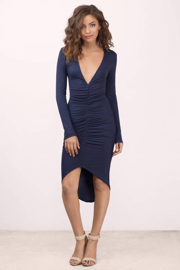 ed8e1579a4c3 Sexy Navy Dress - Blue Dress - Elegant Navy Dress - Midi Dress - kr ...