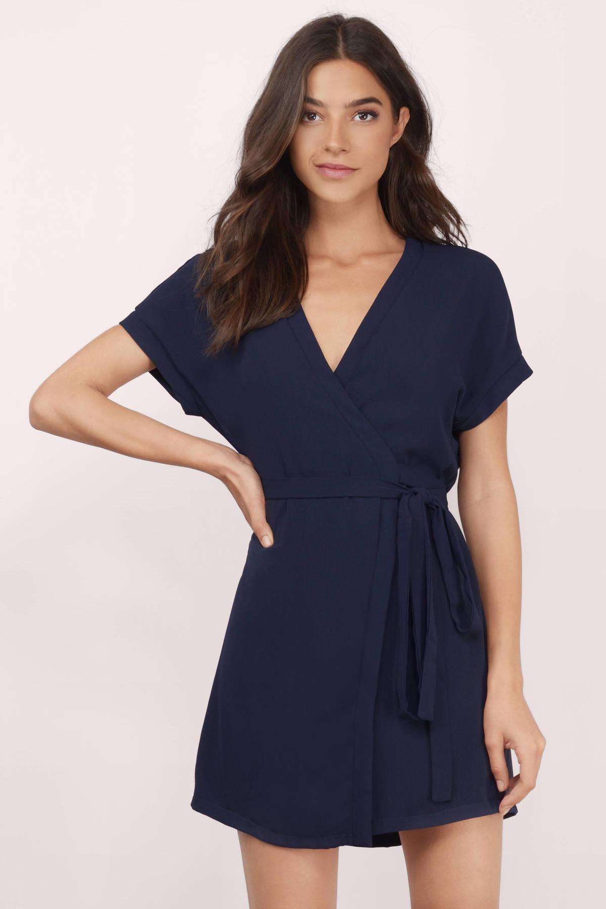 Cute Toast Wrap Dress - Beige Dress - Surplice Dress - $68.00