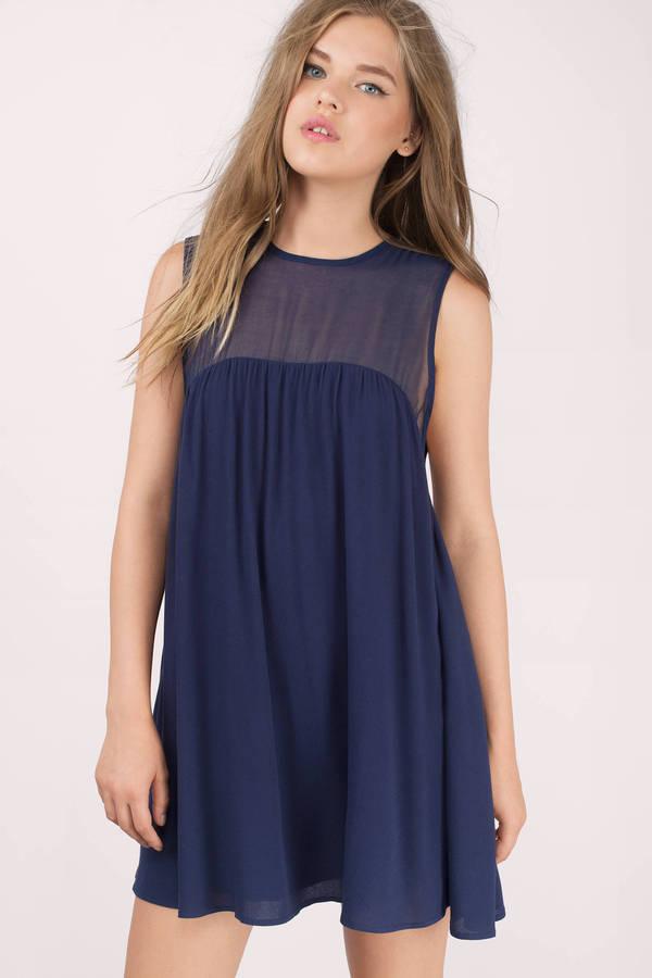 Navy Blue Flowy Dress
