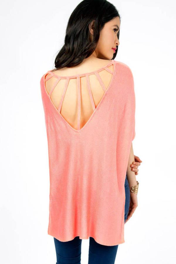 Webbed Back Sweater