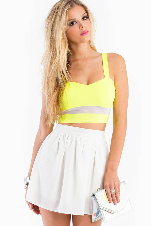 Electric Lane Crop Top