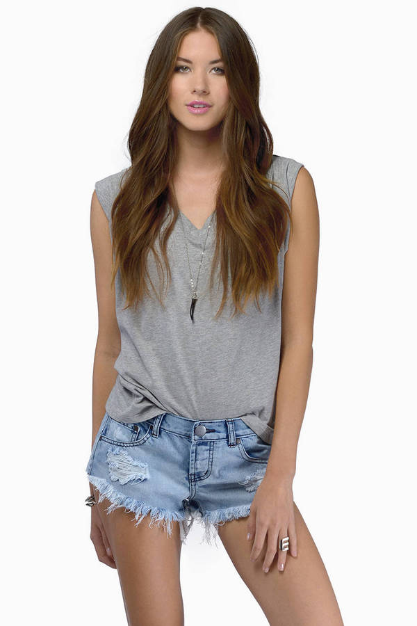 Wilshire Low Waisted Denim Shorts