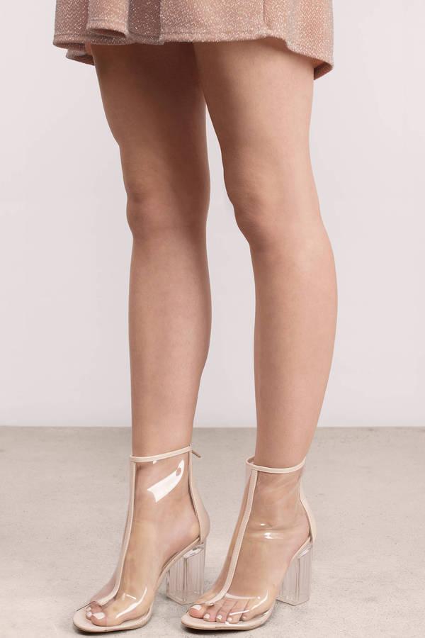 e11f00cd27b54a Nude Boots - Lucite Boots - Pretty Boots - kr 215 | Tobi DK