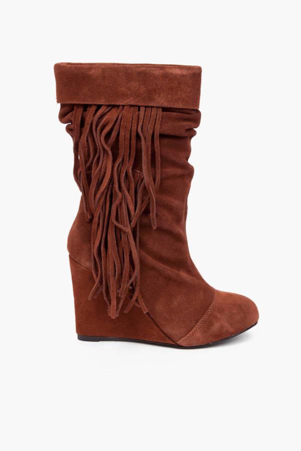 Kelsi Dagger Carousel Fringe Boots