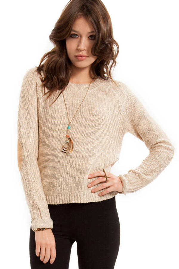 Wear with Suede Elbows Sweater