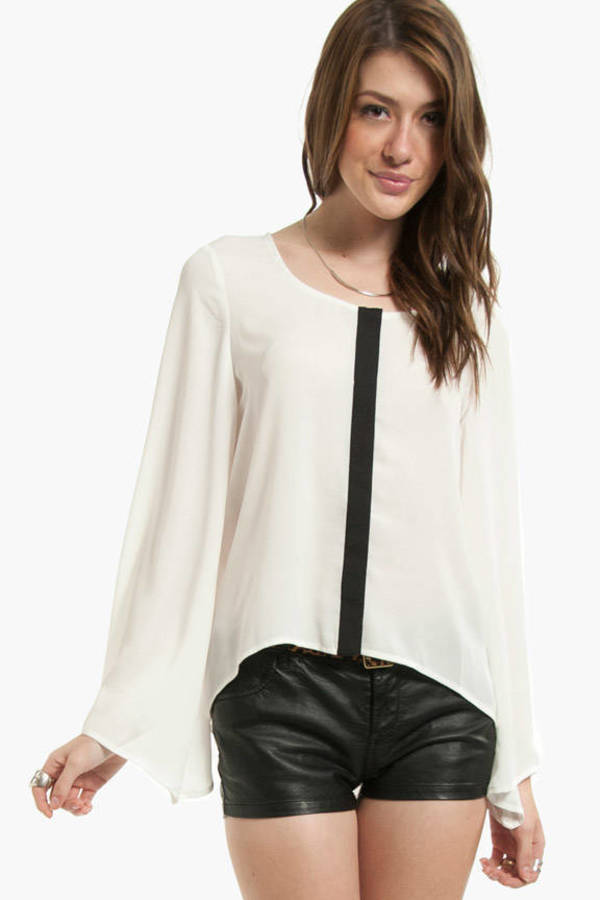 Down the Middle Contrast Top