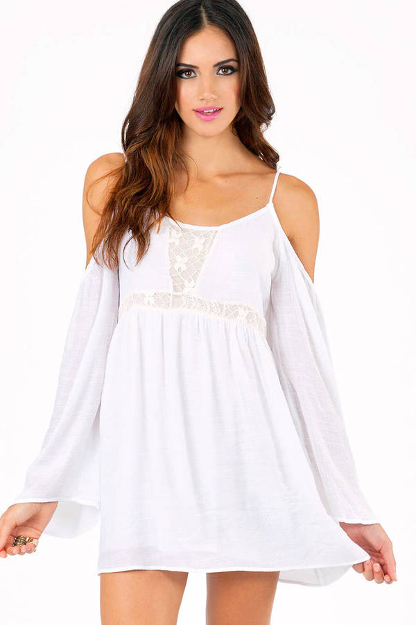 Parade Around Cold Shoulder Dress