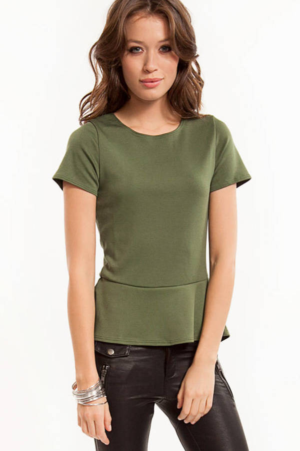 Amy Peplum Top