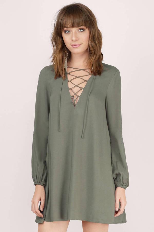 Long Sleeve Shift Dress - Shop Long Sleeve Shift Dress at Tobi