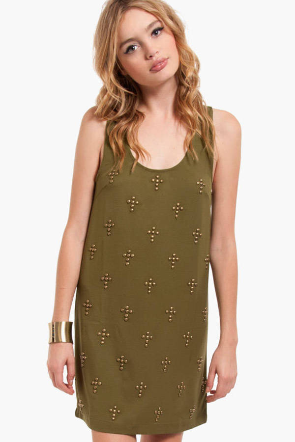 Cross That Stud Tank Dress