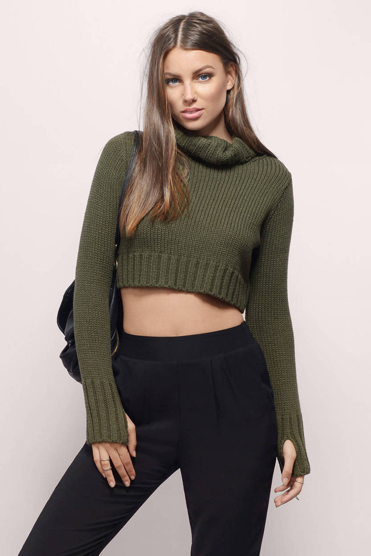 Cheap Olive Sweater - Turtleneck Sweater - $14.00