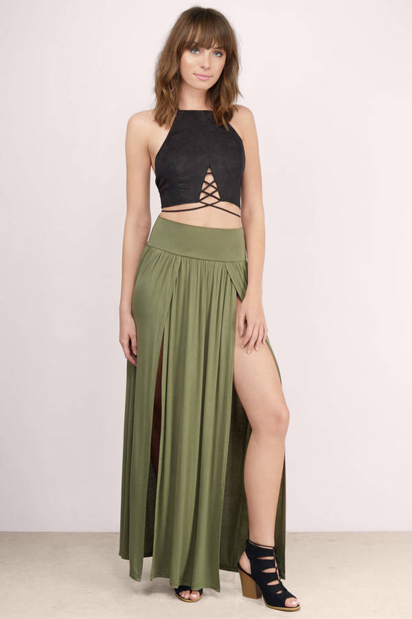 Brown Skirt - Pleated Maxi Skirts - Mocha Skirt - Maxi Pleated ...