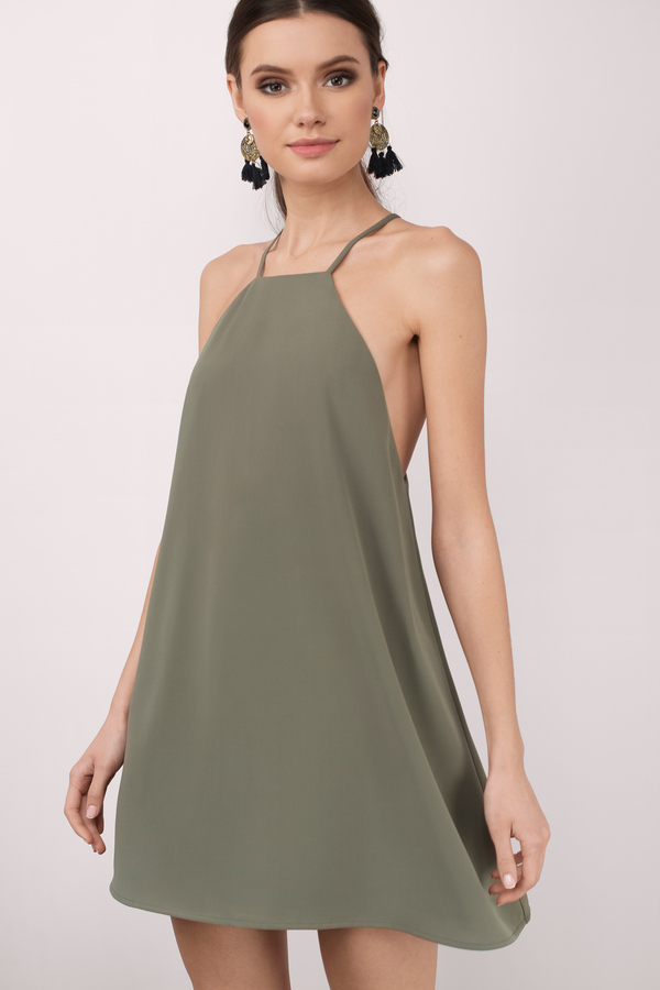 Little Thrills Olive Shift Dress