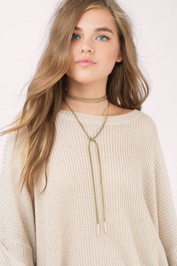 necklace bobbles suede back long in wrap lace stock and