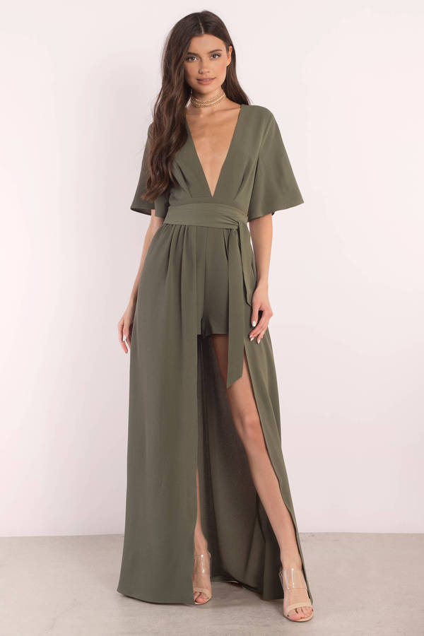 Olive Green Dresses | Long Sleeve, Formal Cocktail, Maxi | Tobi
