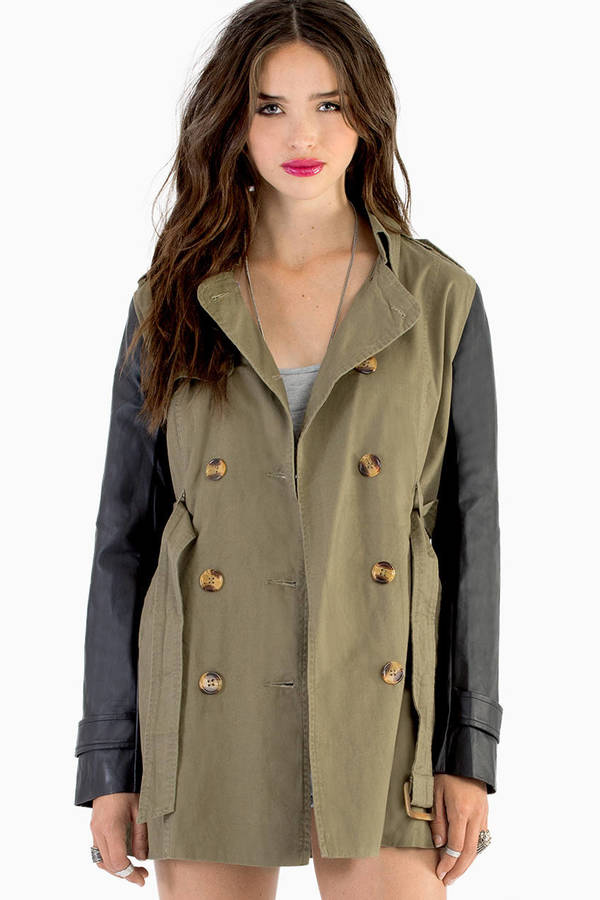 Ellison Show Me Sleeve Trench Coat