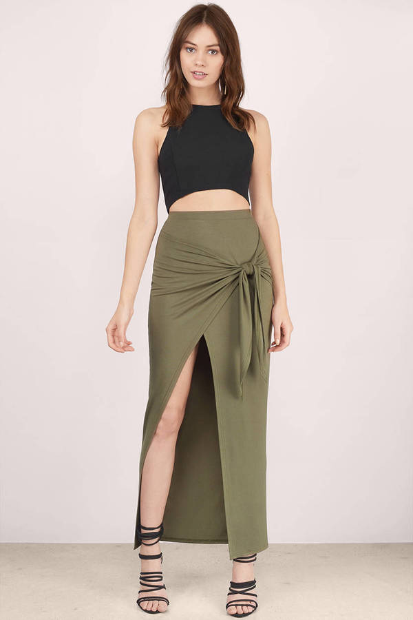 Trendy Black Skirt - High Slit Skirt - Maxi Skirt - Black Skirt - $52