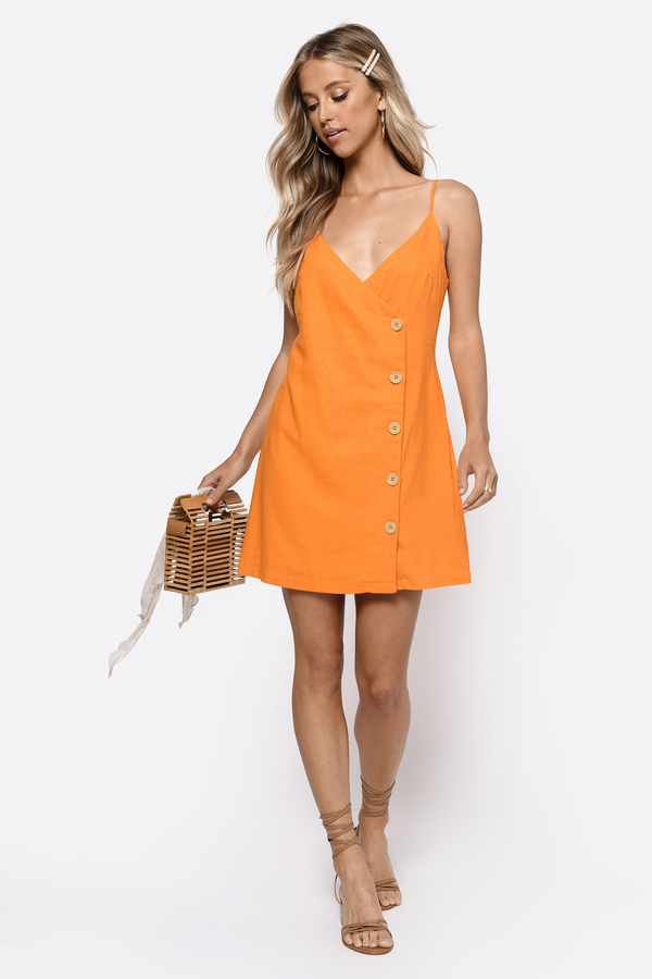 07722add083e COLOR +. yellow; white. Dresses, Orange, Sweet And Tangy Button Up Shift  Dress, ...
