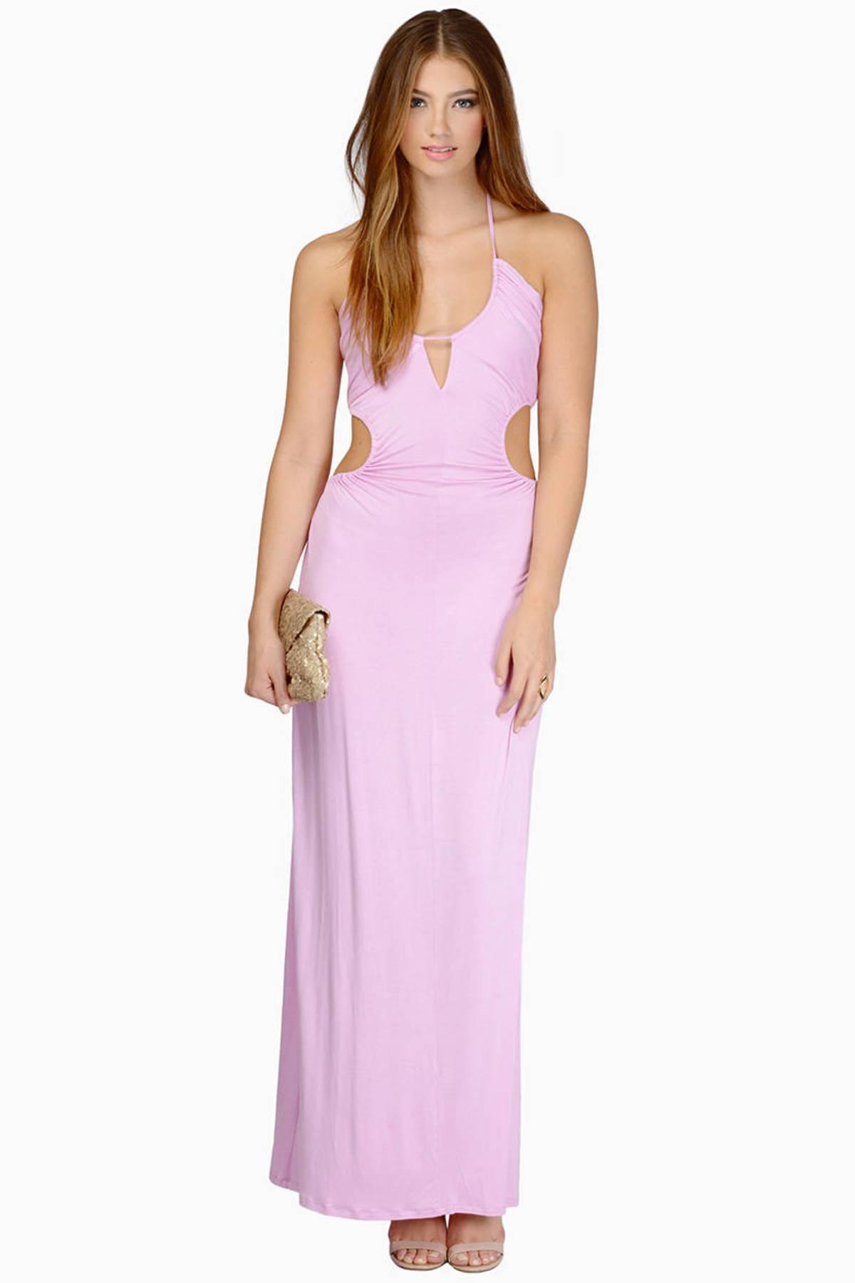 Sexy Orchid Maxi Dress - Cut Out Dress - Purple Dress - $17.00