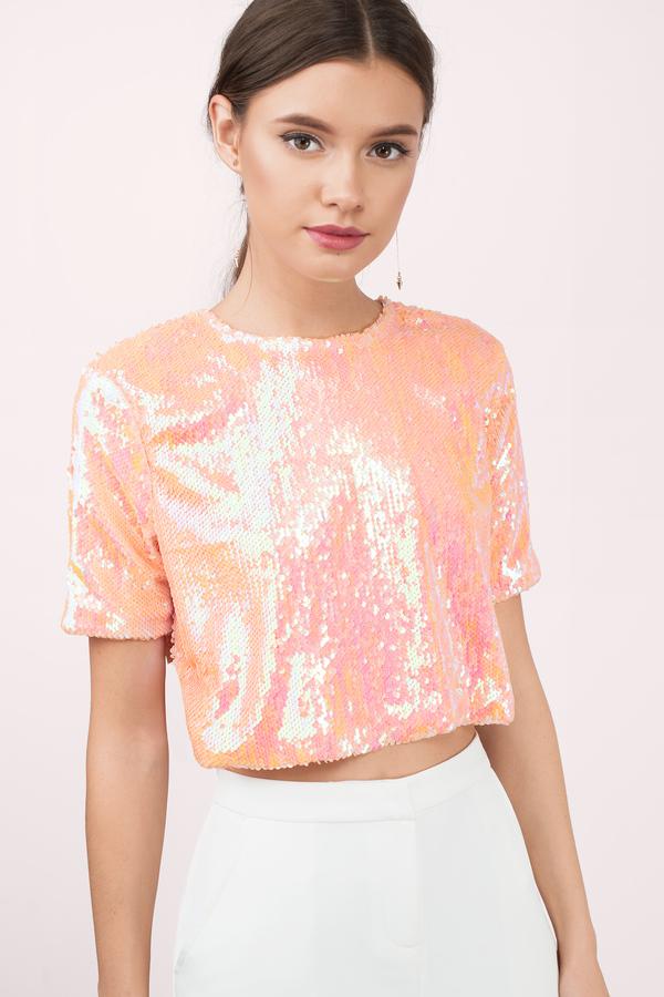 Http Www Tobi Com Tops Crop Tops 61065 Tobi Glitz Glamour Sequin Crop Top