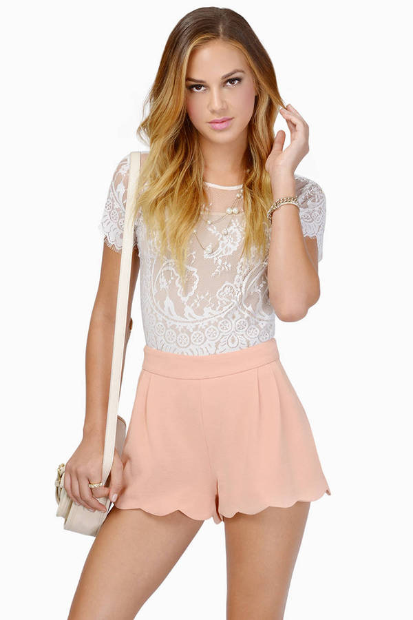 Marci Scalloped Shorts