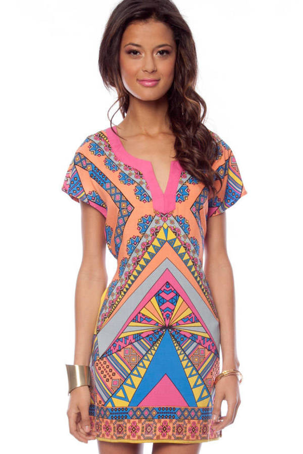 Flying Tomato Indie Kimono Tunic Dress