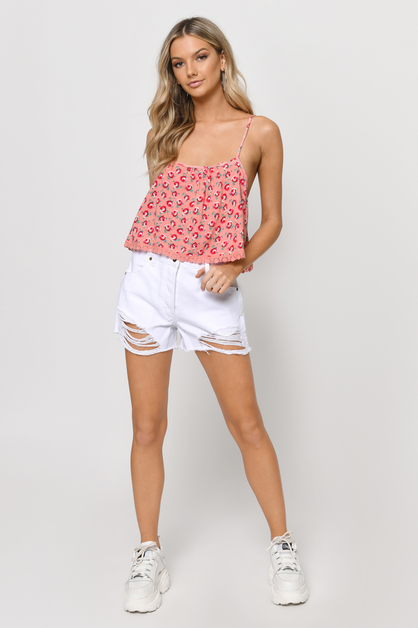 Purple Floral Plunge Lace Up Crop Top. $ Quick View Ivory Puff Sleeve Wrap Crop Top. $ Quick View including the softest tees and tanks, cute crop tops, and sexy bodysuits! Shop everyday essentials like a basic camis and tees, or find something special with off-the-shoulder, lace up, surplice, plunge, or tie up moments.