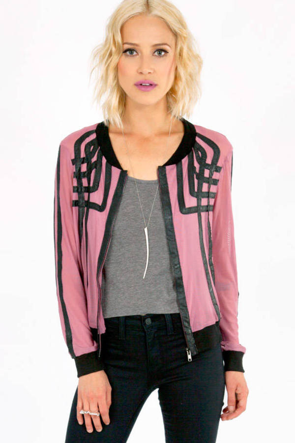Mesh Overlapping Lines Jacket