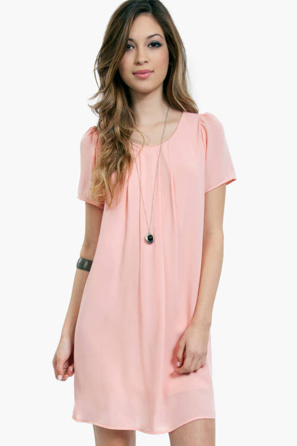 Pleat Guilty Shift Dress