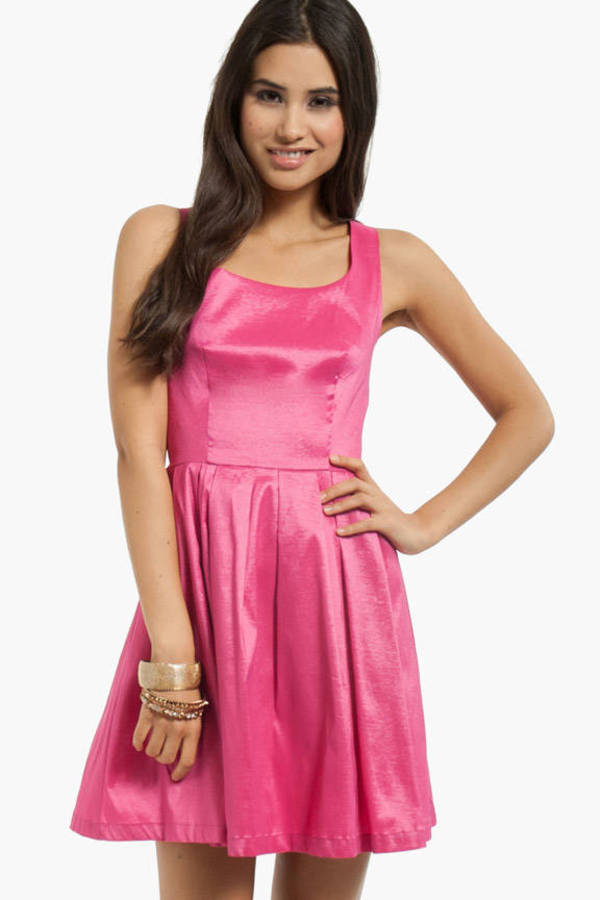 Scoop of Shimmer Skater Dress