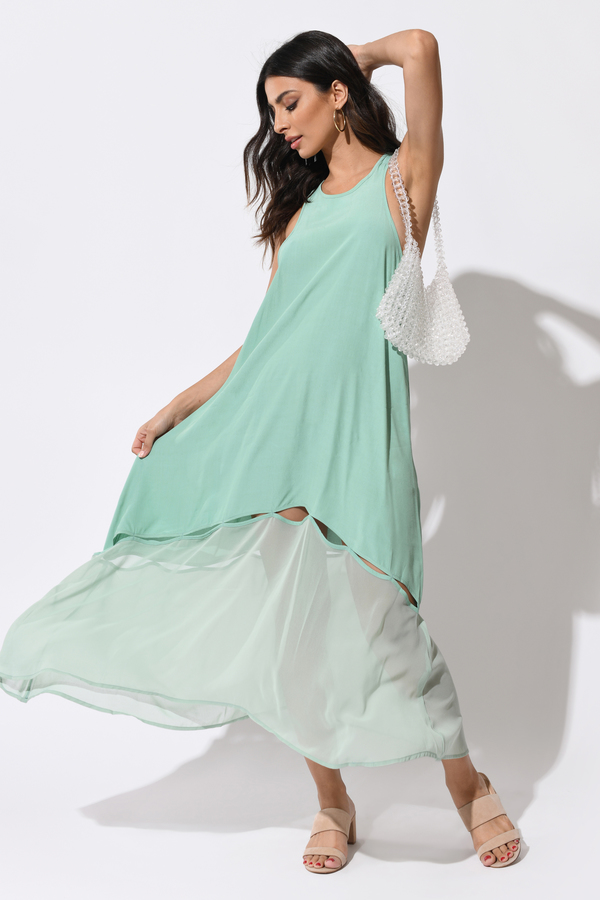 Fun And Flirty Pistachio Midi Dress