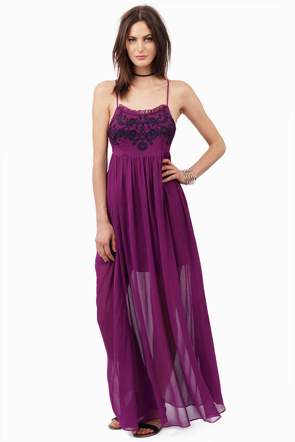 Lavender & White Maxi Dress - Purple Dress - Flowy Dress - $12.00