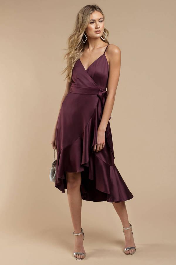 Purple Dresses Plum Payton Wrap Dress