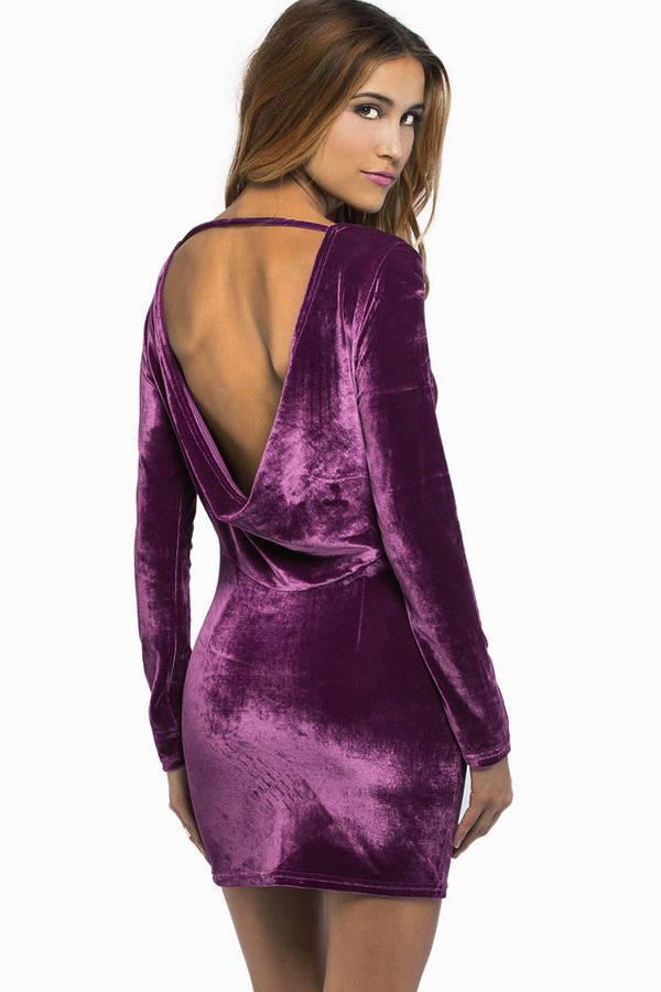 Sighing Sienna Velour Dress
