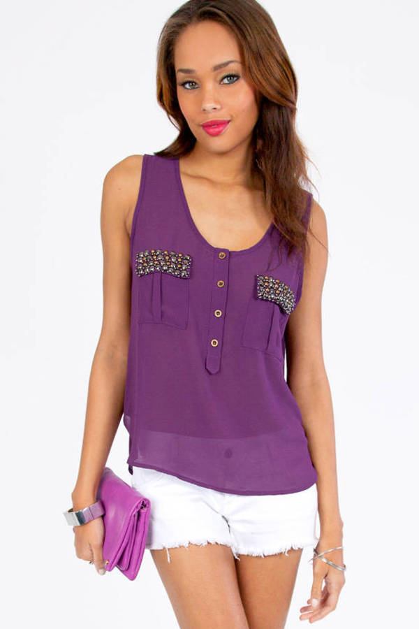 Jewel Tab Tank Top