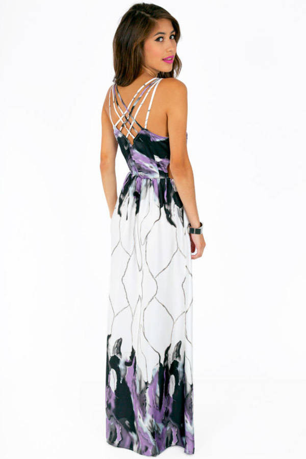 Caged In Back Maxi Dress