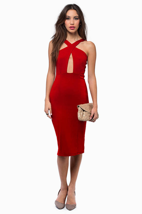 In Rotation Midi Dress