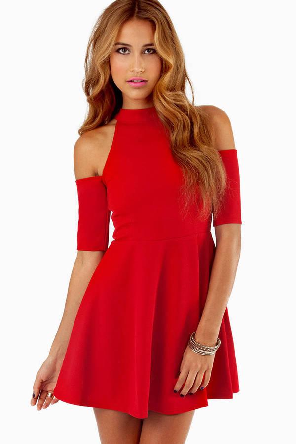 Vindy Cold Shoulder Dress