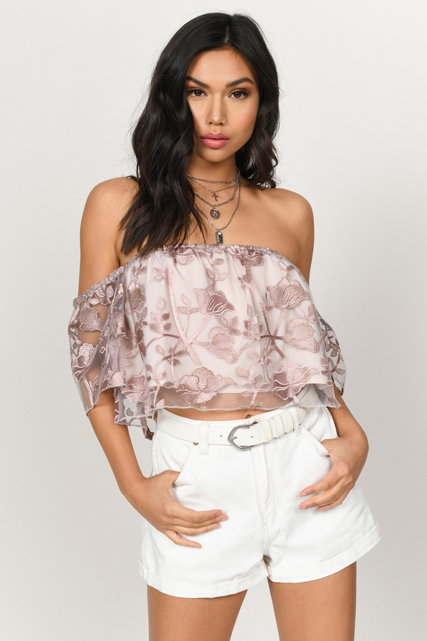 deb638669ad Off the Shoulder Tops | Off Shoulder Shirts, Sweaters, Blouses | Tobi