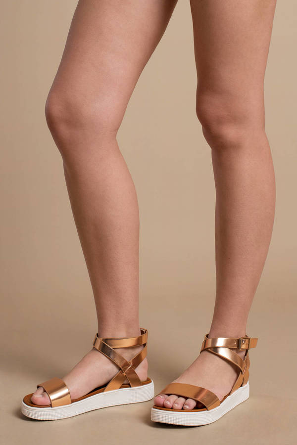 Gold Mia Shoes Sandals - Metallic