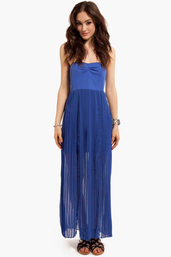 Kahlia Pleated Maxi Dress