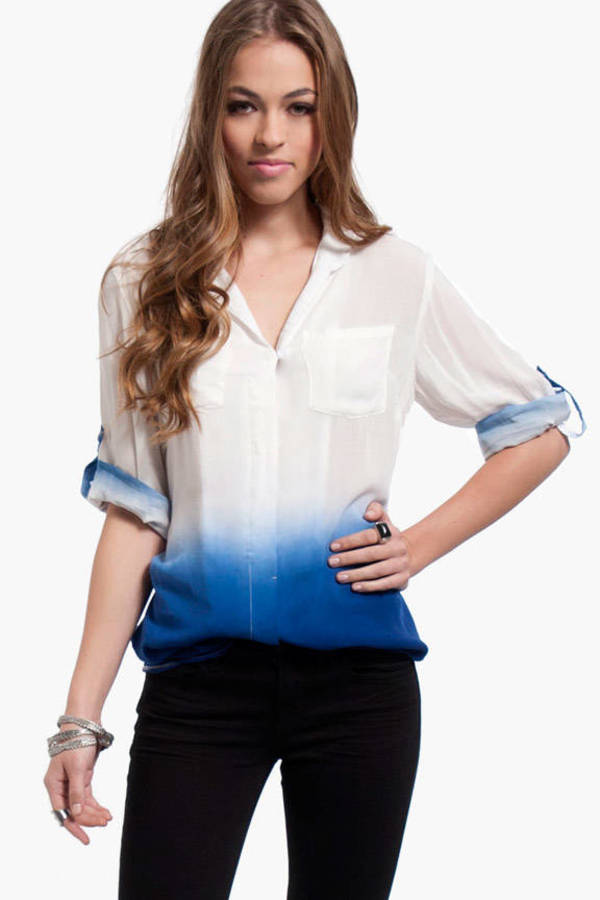 Painters Button Up Blouse