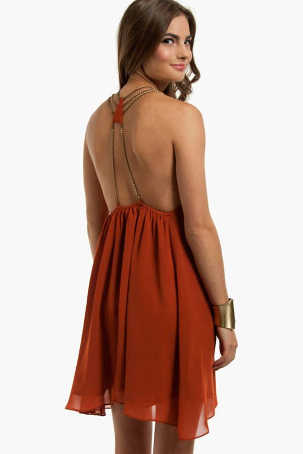 Loop Chain Back Dress
