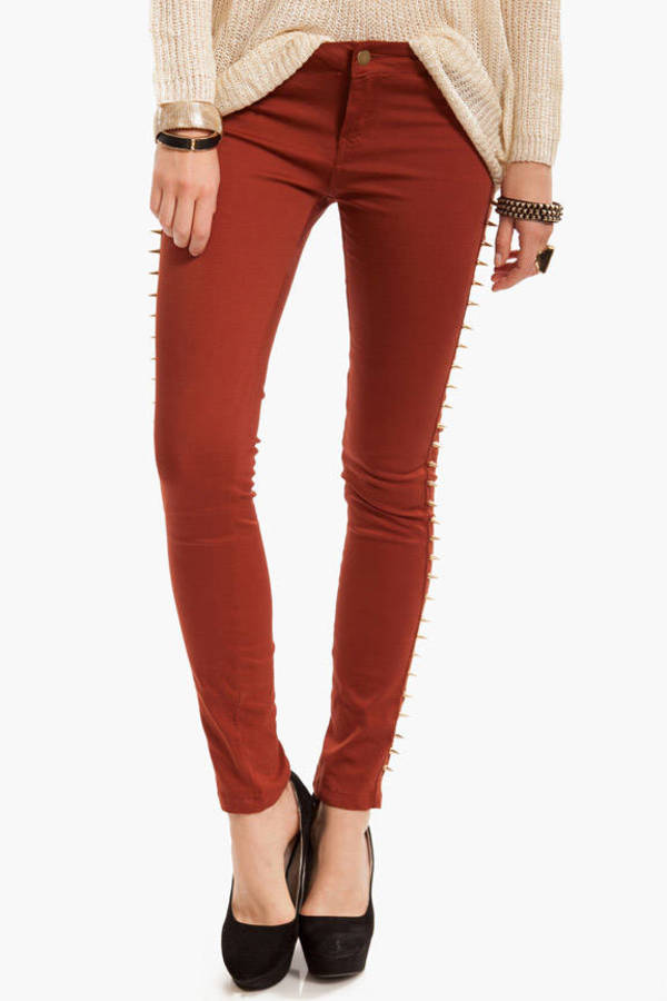 Spike Stud Denim Pants