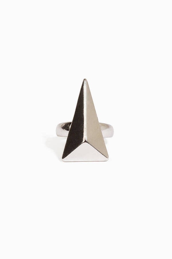 Facet Triangle Ring
