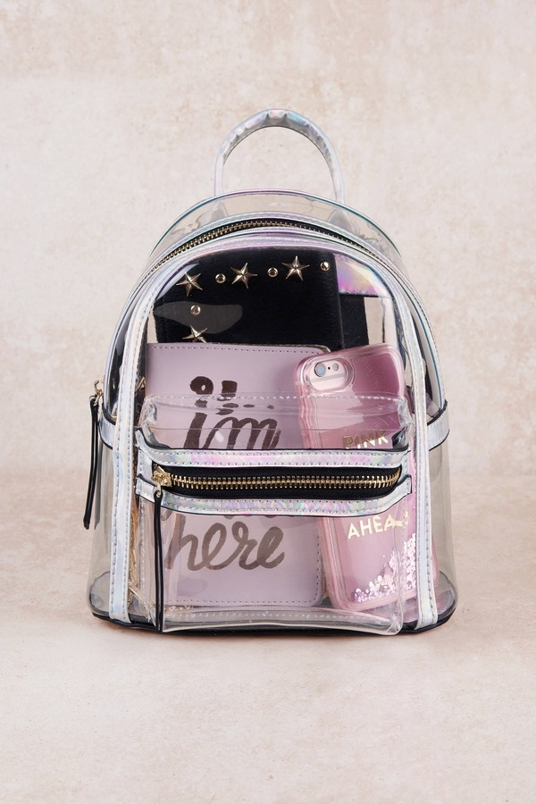 Holly Transparent Mini Backpack
