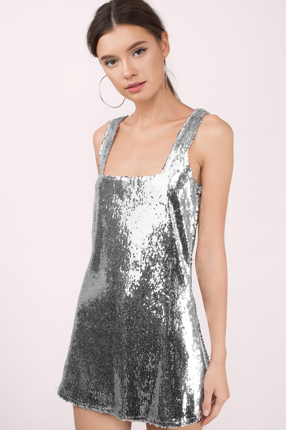 Wedding Silver Dresses cute silver shift dress sequin 13 00 show stopper dress