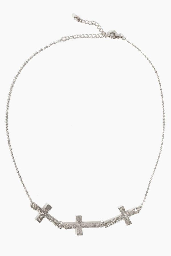 Tri Cross Necklace